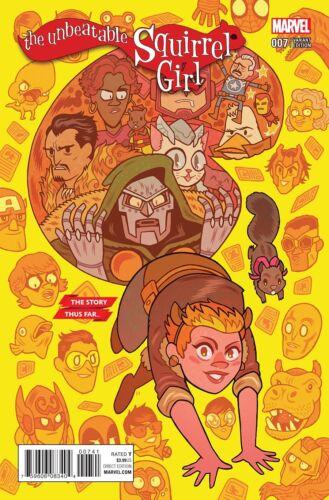 Comic UNBEATABLE SQUIRREL GIRL #7 HIPP STORY THUS FAR VAR Marvel NM Vault 35