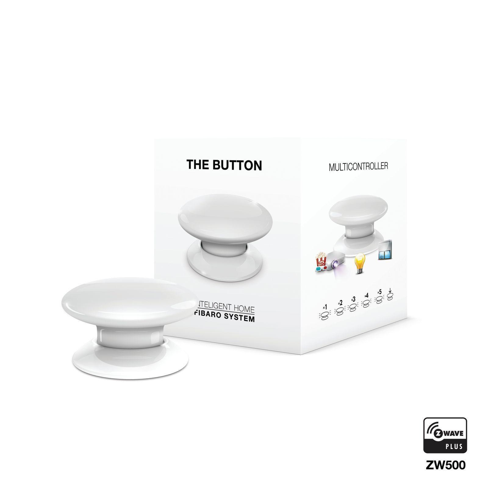 FIBARO The Button Panik Modus Z-Wave Smart Home Schaltaktor Fernsteuerung weiß