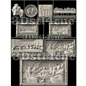 9-3D-STL-Models-Religion-Panel-Set-for-CNC-Router-Carving-Machine-Artcam-aspire