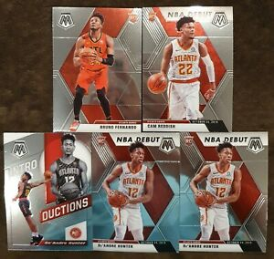 2019-20-Panini-Mosaic-Hawks-Rookie-Lot-16-De-039-Andre-Hunter-RC-amp-Cam-Reddish-RC