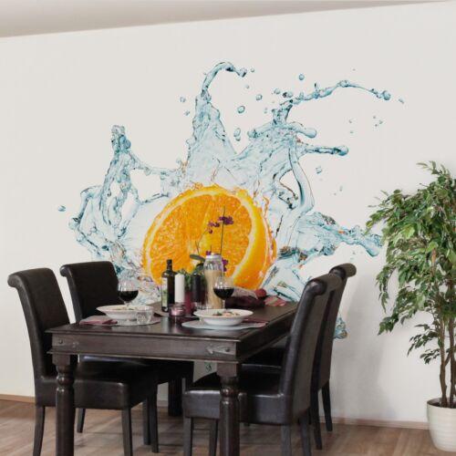 Vlies Tapete Wand Bilder XXL Küchentapete Frische Orange Foto Tapete Wandtapete
