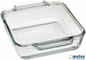 Anchor-Hocking-81934-Glass-Square-Deep-Baking-Dish-Oven-Tray-Roasting-Dish