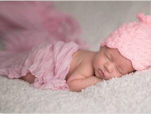 Baby Haarband 34-38 Stirnband Kopfband Neugeborene Reborn Frühchen Ohrschutz NEU
