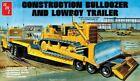 AMT Lowboy Trailer & Bulldozer Combo (1/25 Scale) Plastic Model 1218