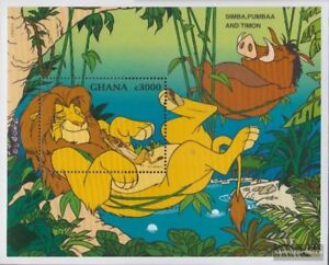 Never Hinged 1996 Walt-disney-z Special Summer Sale Cooperative Ghana Block308 Unmounted Mint complete Issue