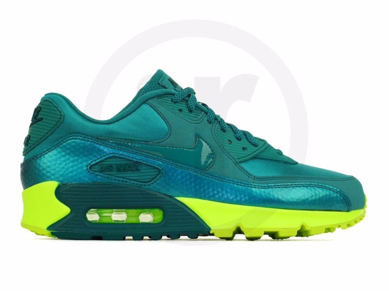 Nike Air Max 90  Womens Size 7.5 325213-306 MINERAL TEAL/MNRL TL-VLT-DRK S