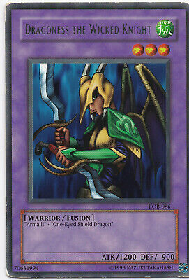 1x Dragoness the Wicked Knight Rare LOB-086 Unlimited Edition NM YuGiOh!