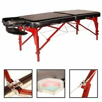 Master 30 Monroe Luster Portable Massage Table (cream / Black/ Chocolate)