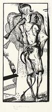 KARL-GEORG HIRSCH - Für Plinius - Holzschnitt 1995