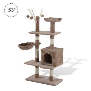 PawHut-53-034-Multi-Level-Cat-Tree-Scratcher-Kitten-Activity-Center-Kitty-Condo-BN