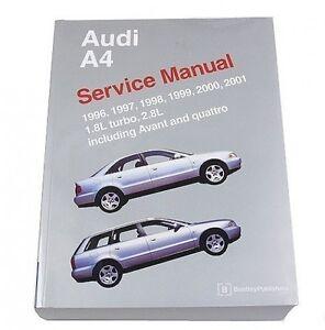 audi a4 avant quattro 1996 2001 1 8l 2 8l service repair manual rh ebay com
