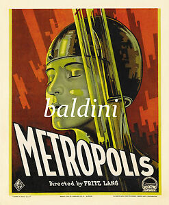 FRITZ-LANG-METROPOLIS-RARE-SCIENCE-FICTION-MOVIE-POSTER-LOOKS-GREAT-FRAMED