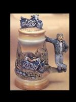 Ceramic Bisque Biker Stein, U Paint