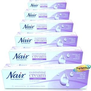 6x Nair Moisturising Nourishing Hair Removal Cream 80ml With Baby