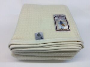 4 sizes Many Colors French Quality Waffle Pattern BVT Nuage Merino Wool Blanket