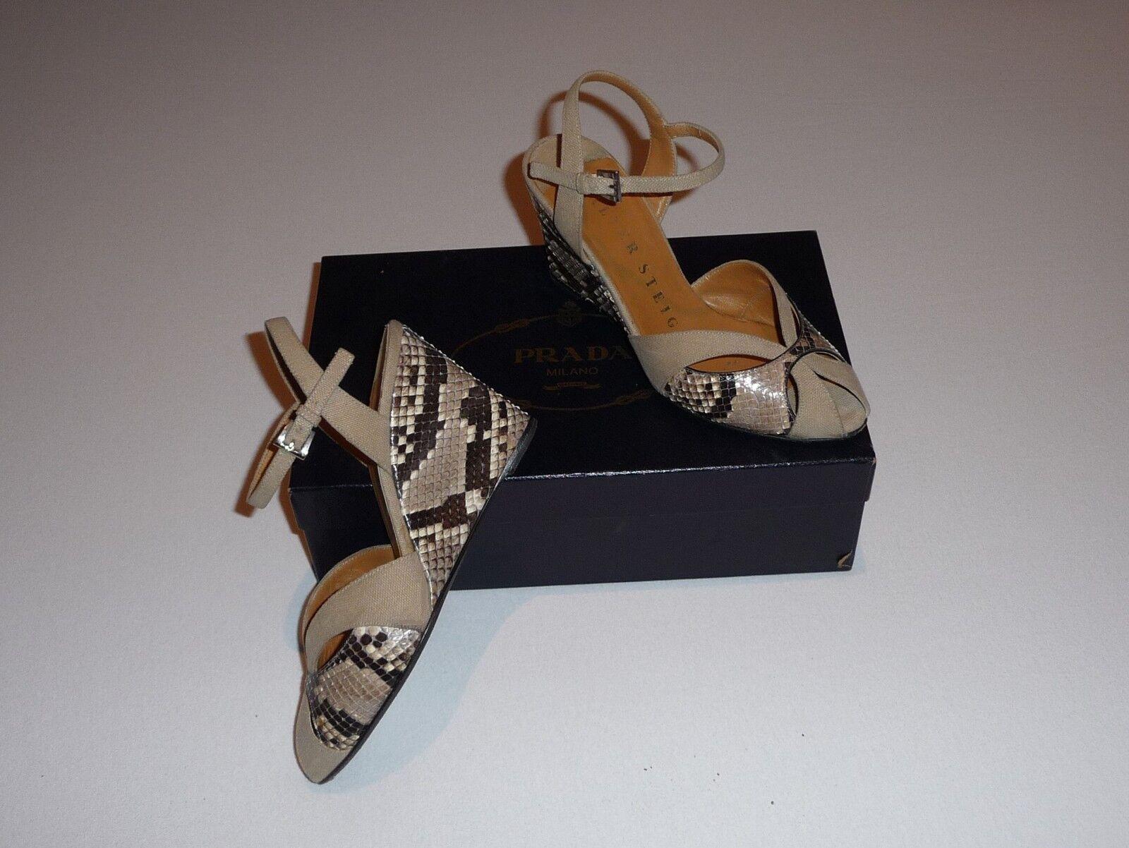 Luxury, the spoiled Walter Steiger Fabulous shoes size 35 NP529, & Prada Box NEUW