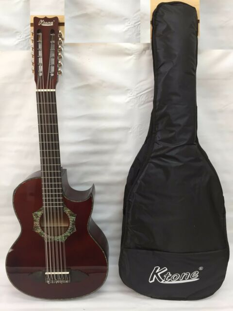 Musical Instruments & Gear With Gig Bag 12 String Bajo Sexto Acoustic Electric Guitar Black