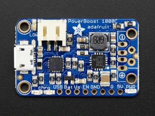 Adafruit PowerBoost 1000C Charger 5V USB Boost Power Supply 1A from 1.8V W41