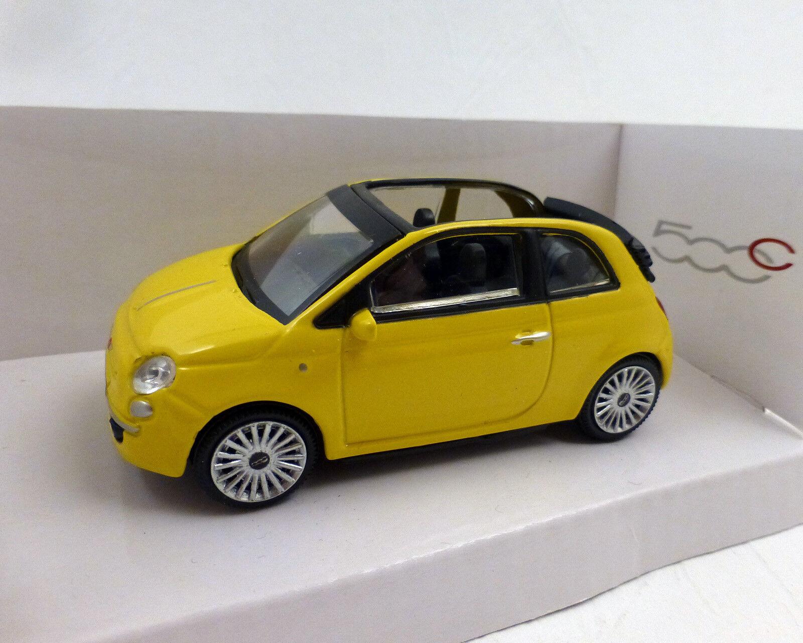 Fiat 500 Cabriolet, jaune, 1 43, MONDO