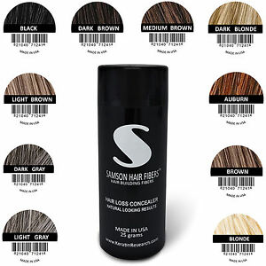 Original-Samson-hair-Building-Fibers-25g-hide-thin-Hair-Loss-and-hair-Transplant