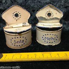 alte Mehl u.Salz Metze aus Weißblech,Zubehör,Puppenküche,Puppenstube