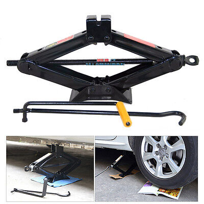 Heavy Duty 2 Ton Wind Up Jack Stands For Auto Car SUV Van w/ Crank Speed Handle