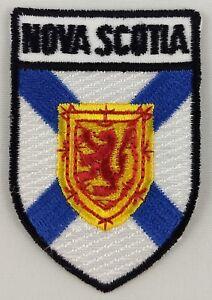 NOVA SCOTIA  Blue Shield CANADA Provincial Flag IRON-ON PATCH CREST BADGE