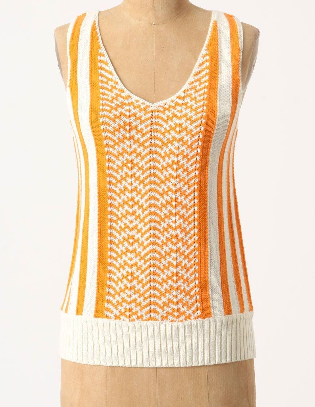 Fiets Voor 2 Neonsicle Knit Tank Top Medium, Large orange NW ANTHROPOLOGIE Tag