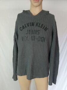 CALVIN-KLEIN-MAGLIONE-con-CAPPUCCIO-in-LANA-D-039-AGNELLO-E-ANGORA-Pullover-Tg-XL