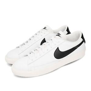 Nike-Blazer-Low-Leather-White-Black-Men-Classic-Casual-Shoes-Sneakers-CI6377-101