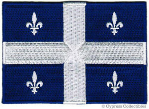 QUEBEC-FLAG-embroidered-iron-on-PATCH-CANADA-new-EMBLEM-CANADIAN-PROVINCE-FRENCH