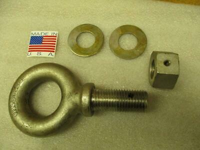 USA Stocks Washer 1//4 X 2 - 10 Hot Dip Galvanized Forged Eye Bolt with Nut
