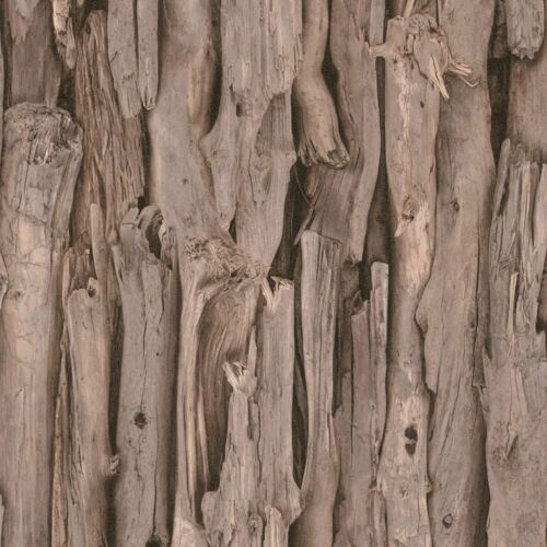 NEW RASCH TREE BARK PATTERN REALISTIC FAUX EFFECT PHOTOGRAPHIC MURAL WALLPAPER