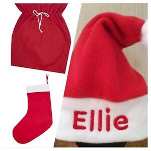 245f0ba4bab Image is loading Personalised-Baby-Toddler-Santa-Hat-Stocking-Sack-Christmas -