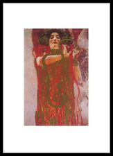 Gustav Klimt Hygieia Poster Bild Kunstdruck mit Alu Rahmen in schwarz 70x50cm