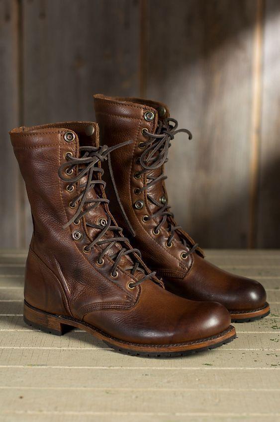 Handmade Men Braun Military Stiefel, Men Braun high ankle combat Stiefel, Men Stiefel