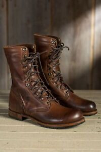 3121e40cb1a7 Image is loading Handmade-Men-brown-Military-boots-Men-brown-high-