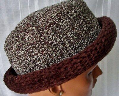 ***cappello Hat In Misto Lana-ciniglia Tg.m Tonalità Marrone Cod.a A Tutti I Costi
