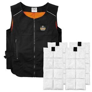 Ergodyne-Chill-Its-6260-Lightweight-Phase-Change-Cooling-Vest-w-Packs-L-XL-New