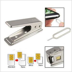 Sim Karte Stanzen.Details Zu Micro Nano Sim Cutter Sim Karten Stanze Für Iphone Ipad Htc Samsung Adapter