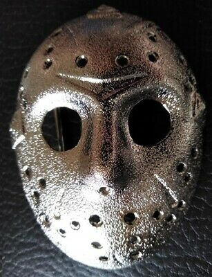☆ Friday the 13th Jason Voorhees Hockey Mask Silver Belt Buckle NEW ☆
