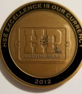 Details about H & P HSE ACHIEVEMENT SAFETY COIN CURRENCY OILFIELD H&P  OKLAHOMA HELMERICH PAYNE