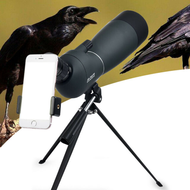 Spotting Scope 25-75X70 Telescope With Tripod&Phone Adapter For Target Shooting!