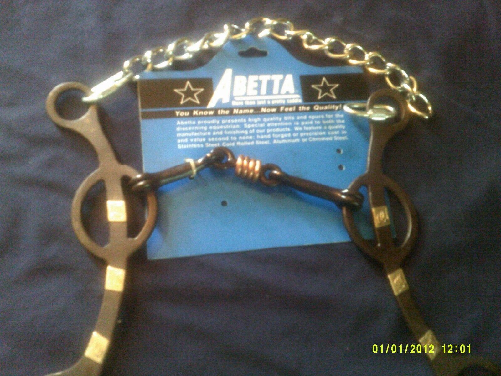 Bit Abetta 3 Piece With Copper Twisted Dog Bone Mouth 5 1/4\