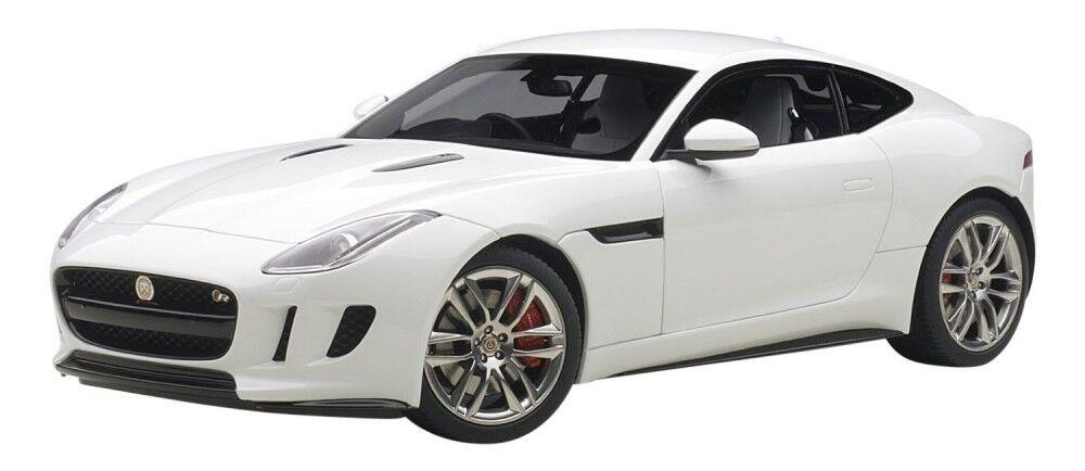 Autoart Jaguar Tipo F R Coupe 2018 Blanco coche modelo escala  Diecast de seguimiento