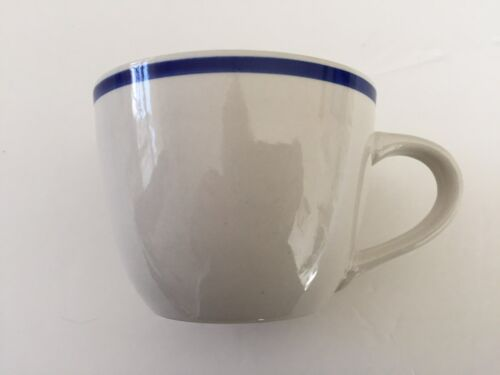 TEA CUP Gibson Designs China Tavernware Dark Blue Band Ring COFFEE MUG