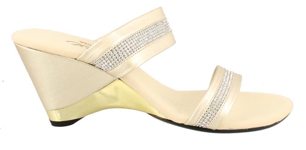 Onex Stunning High Heel Heel Heel Dressy Wedge Leather Womens Sandals High Heel High 1ea287