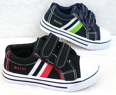 Nuevos Chicos Negro Marina Cuero Plantillas Zapatos De Lona Zapatillas Escuela Zapatillas De Tenis Deporte