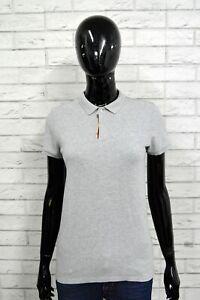 Polo-Maglia-Donna-BURBERRY-Maglietta-Taglia-M-Slim-Shirt-Woman-Grigio-Camicia