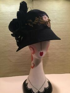 05486cb5ba73c3 Image is loading Kentucky-Derby-Downton-Abbey-Flapper-style-COUTURE-hat-